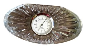 WATERFORD Waterford Small Oval Crystal Desk Clock
