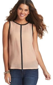 Ann Taylor LOFT Sleeveless Keyhole Crepe Date Night Summer Top Blush