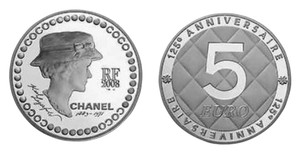 Chanel CHANEL LIMITED EDITION 125th ANNIVERSARY SILVER COIN - UNCIRCULATED