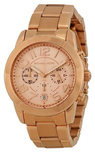 Michael Kors Rose Gold Classic Elegant Stainless Steel Blush Dial Ladies Watch