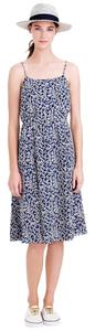 J.Crew short dress Black/Navy/White Floral Print on Tradesy