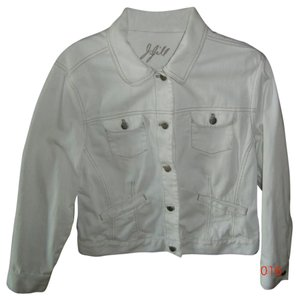 J. Jill White Womens Jean Jacket