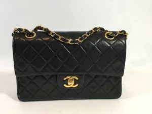 Chanel Lambskin Classic Double Shoulder Bag