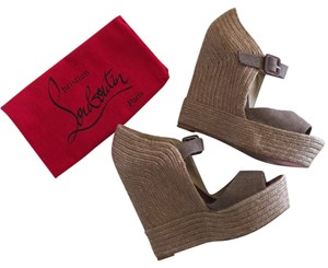 09f19c1e6f43 Beige Christian Louboutin Wedges - Up to 90% off at Tradesy