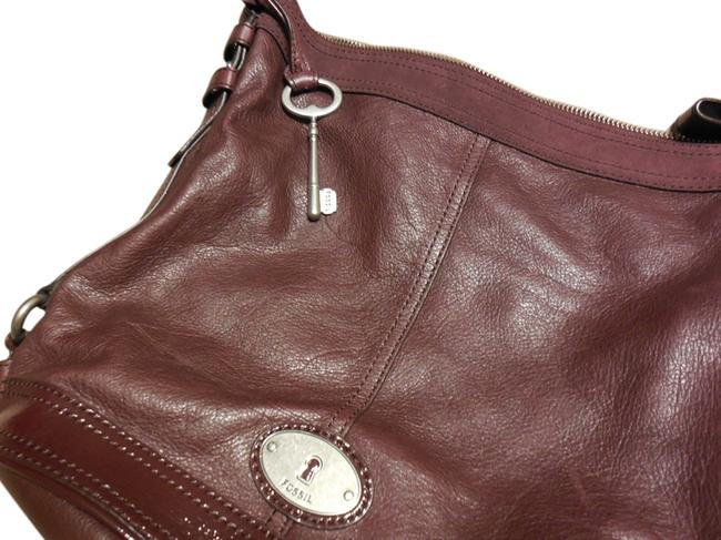Item - Bucket W Maddox Bucket In W/ Patent and Suede Accents Burgundy Leather Shoulder Bag
