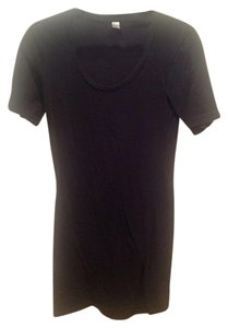 American Apparel short dress Black Knit Scoop Neck Comfy on Tradesy