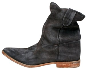 Isabel Marant Suede Slouchy Leather Ankle Black Boots
