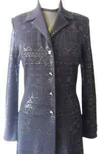 St. John Knit Evening Couture Paillettes Coat