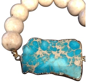 Natural Turquoise/ Marble Bracelet