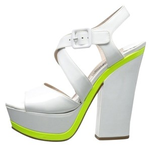 Miu Miu WHITE/YELLOW Sandals