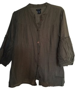 Calvin Klein Easy Button Down Shirt khaki