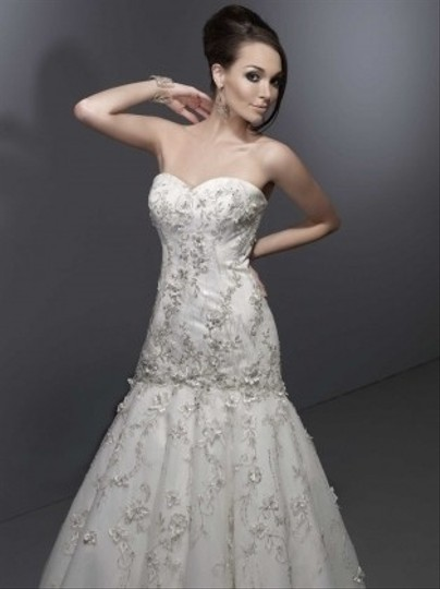 Private Label by G Ivory Style 1445 Sexy Wedding Dress Size 12 (L) Image 1