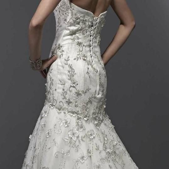 Private Label by G Ivory Style 1445 Sexy Wedding Dress Size 12 (L) Image 2