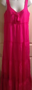 hot pink silk Maxi Dress by Calypso