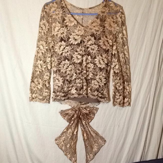 Banana Republic Top Gold 100% Lace