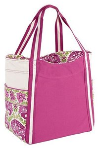 Vera Bradley Canvas Colorblock Tote in Julep Tulip