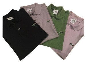 Lacoste T Shirt Black, green, lavendar, gray