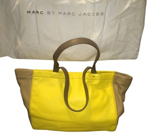Marc by Marc Jacobs Tote in Canary Yellow & Taupe