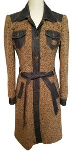 Dolce&Gabbana Italy Italain Leopard Lined Trim Trim D&g Gold Gold Buttons Trench Coat