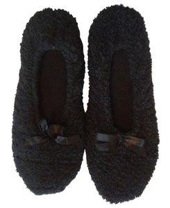 Stretchy Padded Indoor Black Flats