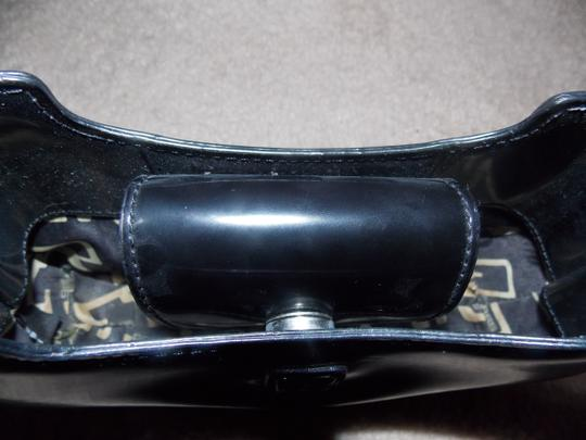 Guess 80's Vintage Patent Small Satchel in Black