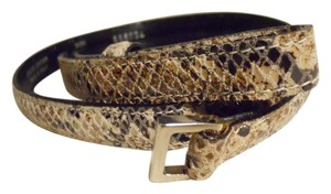 Emporio Armani leather snakeskin print