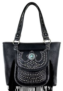 Montana West Leather Fringe Shoulder Bag