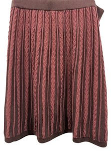 Knitted Dove Skirt earth tones