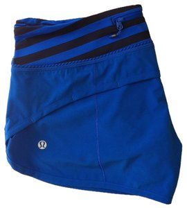 Lululemon Limited Edition Speed Baroque Blue, Apex Stripe Shorts