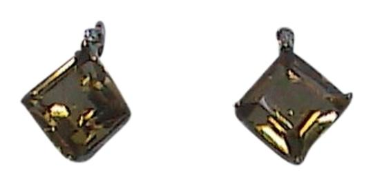 Other 10k Solid Yellow Gold 1 ct Citrine & Diamond Stud Earrings (#1)