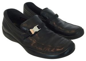 Prada Sport Leather Slip-on Loafer Black Flats