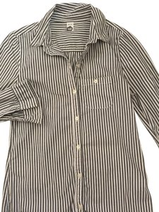 Nordstrom Button Down Shirt Stripes of white and dark gray