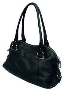 Anne Klein Faux Leather Satchel in Black