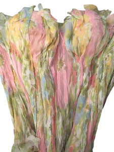 Ermanno Scervino Chiffon Style Handmade Sexy Top Couture Pastel Silk