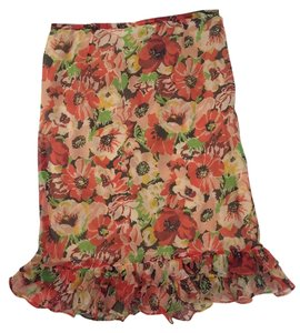 Ralph Lauren Skirt Multi color. Orange with reds