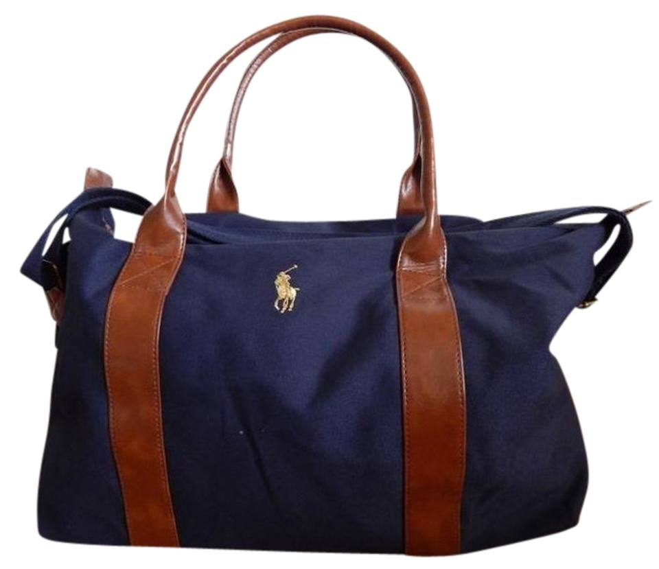 Polo Ralph Lauren Blue Duffle Navy Cotton Weekend Travel Bag - Tradesy af255c9223ef5