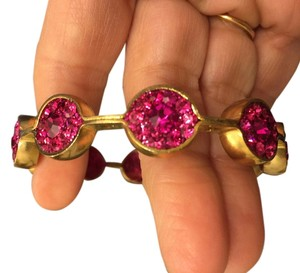 Niquead New Niquead Ruby Color Stones Gold bracelet in Box