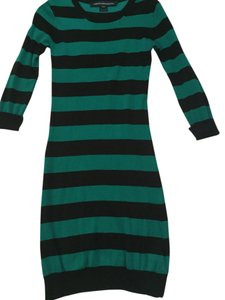 Nordstrom short dress green and black stripes on Tradesy