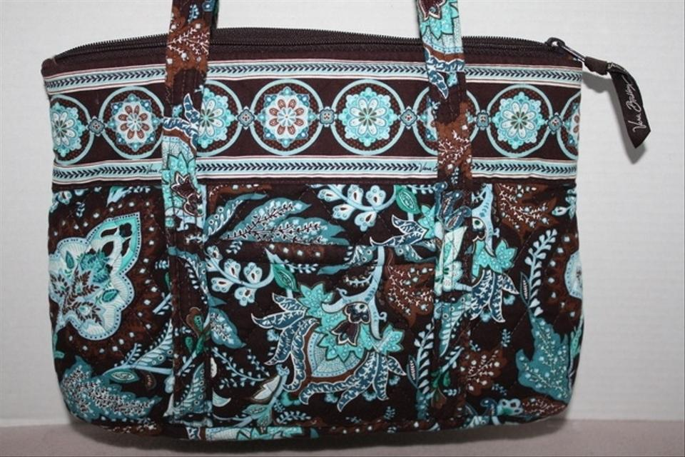 vera bradley little betsy in retired print java blue java blue  and brown floral  78  off