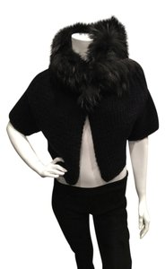 Prada Fur Collar Cape
