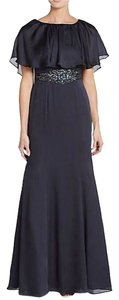 Adrianna Papell Navy Jewel Gown Dress