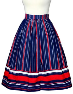 Vintage Skirt red, white, blue