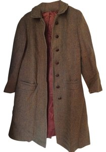 Harris Tweed Wool Vintage Trench Coat