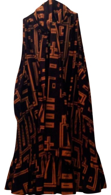 Fendi Blouse Tie Neck Brown and Gold Halter Top