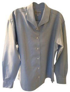 Burberry Cotton Long Sleeved Button Down Shirt Blue