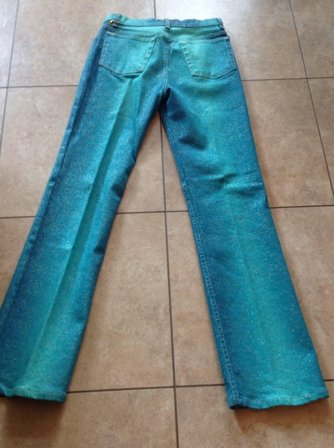 Roberto cavalli They Are Like A Fancy Jean Boot Cut Pants Multi green Image 1