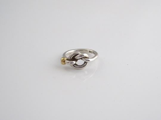 Tiffany & Co. TIFFANY & CO 750 YELLOW GOLD STERLING SILVER LOVE KNOT RING