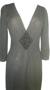 St. John Knit Evening 3/4 Sleeves Dress