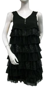 Kensie short dress Blacks Sequins Layered Ruffle on Tradesy