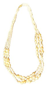 Beautiful Seed Pearl White and Pink Necklace